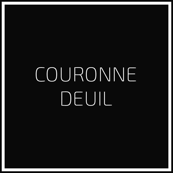 Couronne deuil