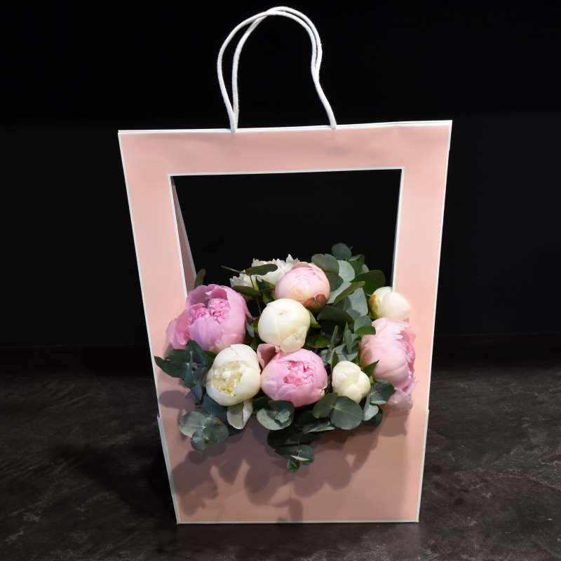 Pink Flower Bag Bouquet Mother's Day