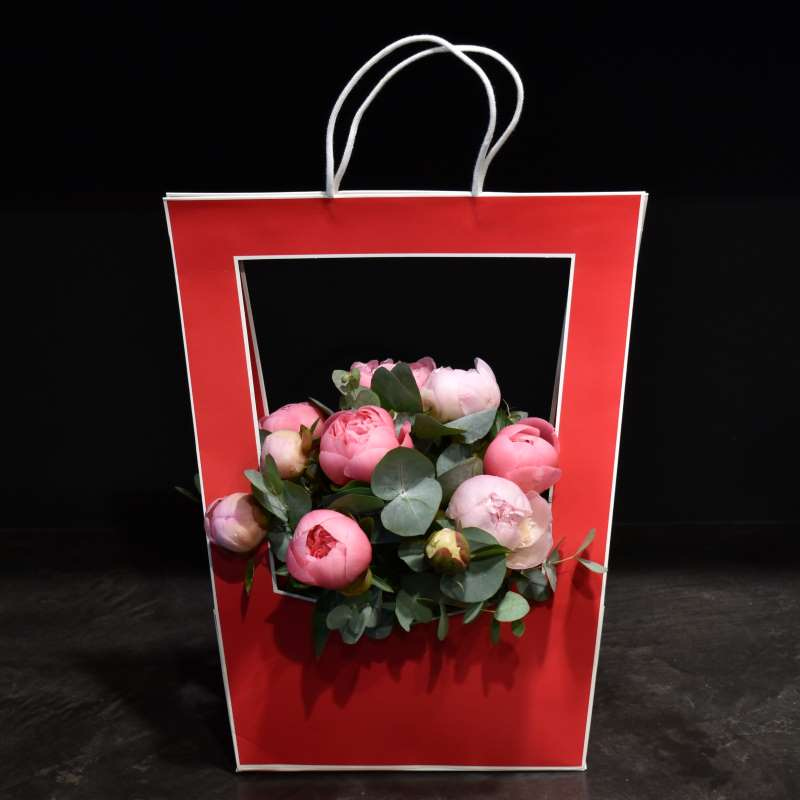 Red Flower Bag Bouquet Mother's Day