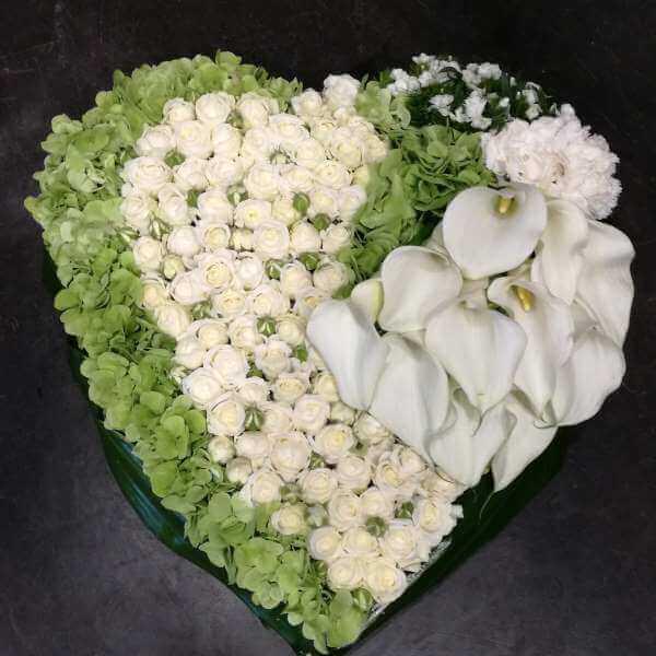 Cœur De Fleurs Deuil